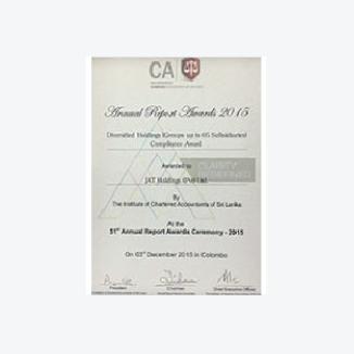 Compliance Award won by JAT