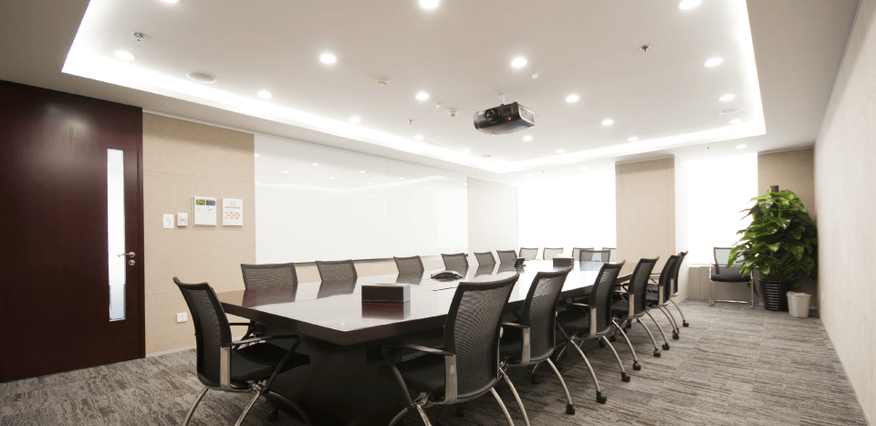 Modern meeting room with projectors