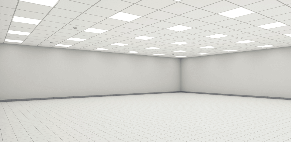 empty white room with white lighting