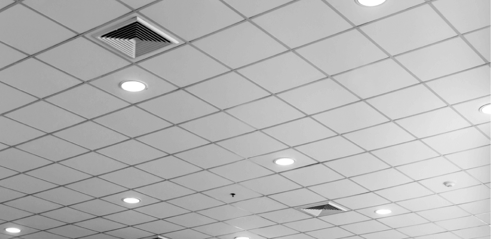 square patterned modern ceiling