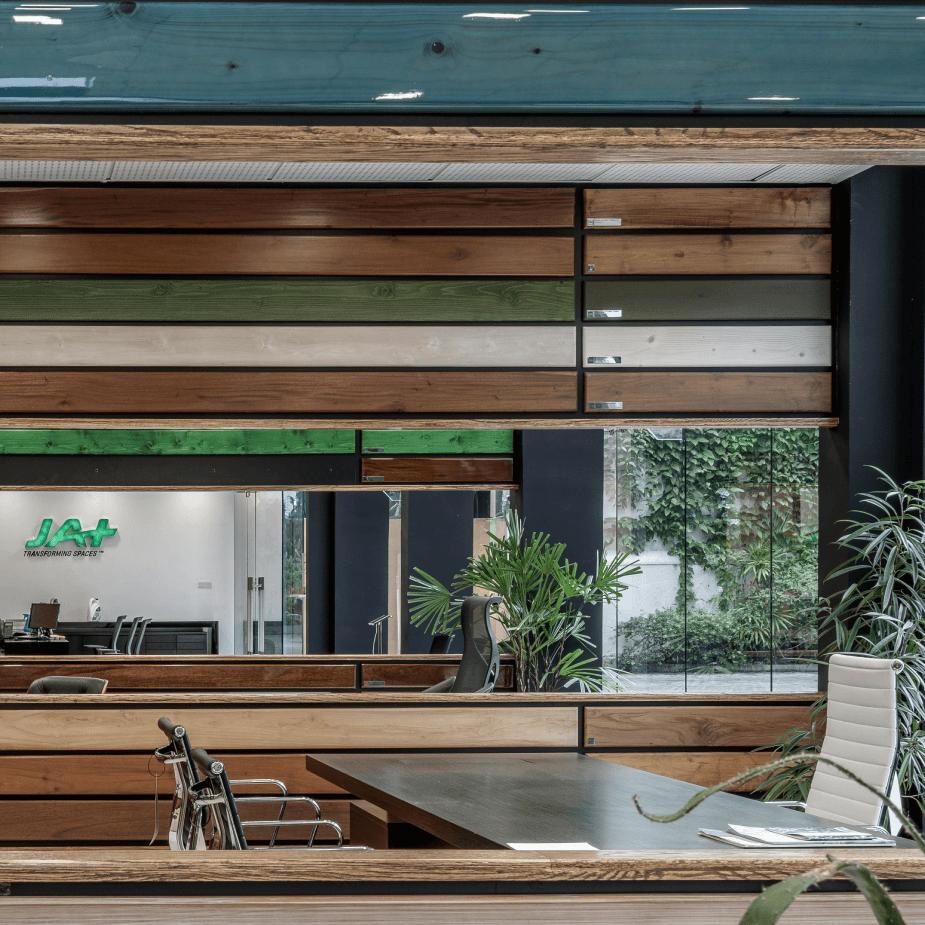 View of a U-shape kitchen layout design