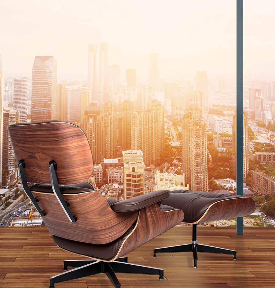 Interior design of a modern workplace
