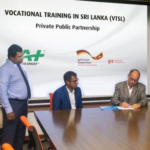 JAT Vocational Training in Sri Lanka (VTSL) signing papers