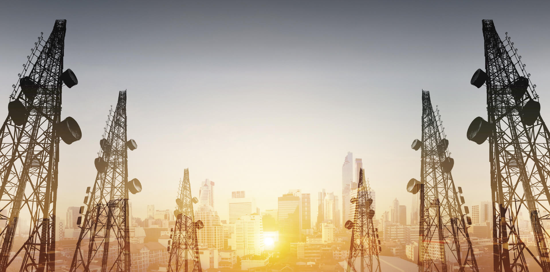 Telecommunication towers background