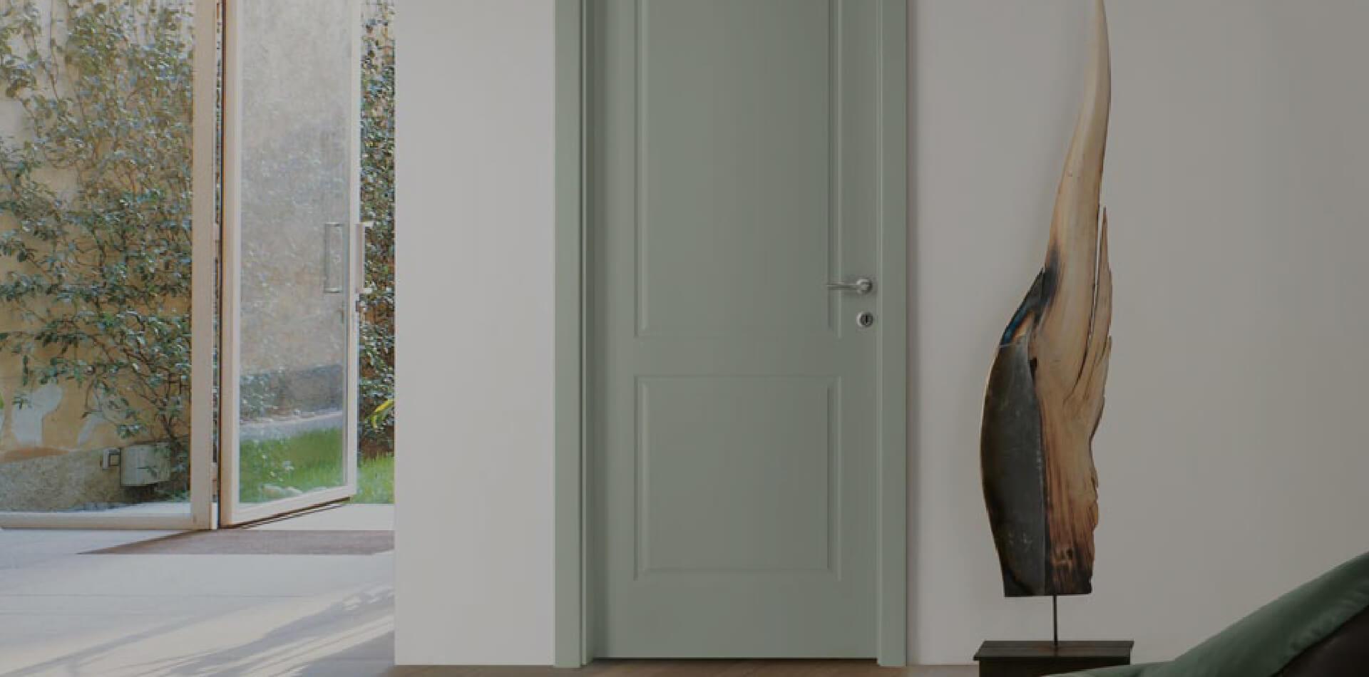 Classic solid wooden door