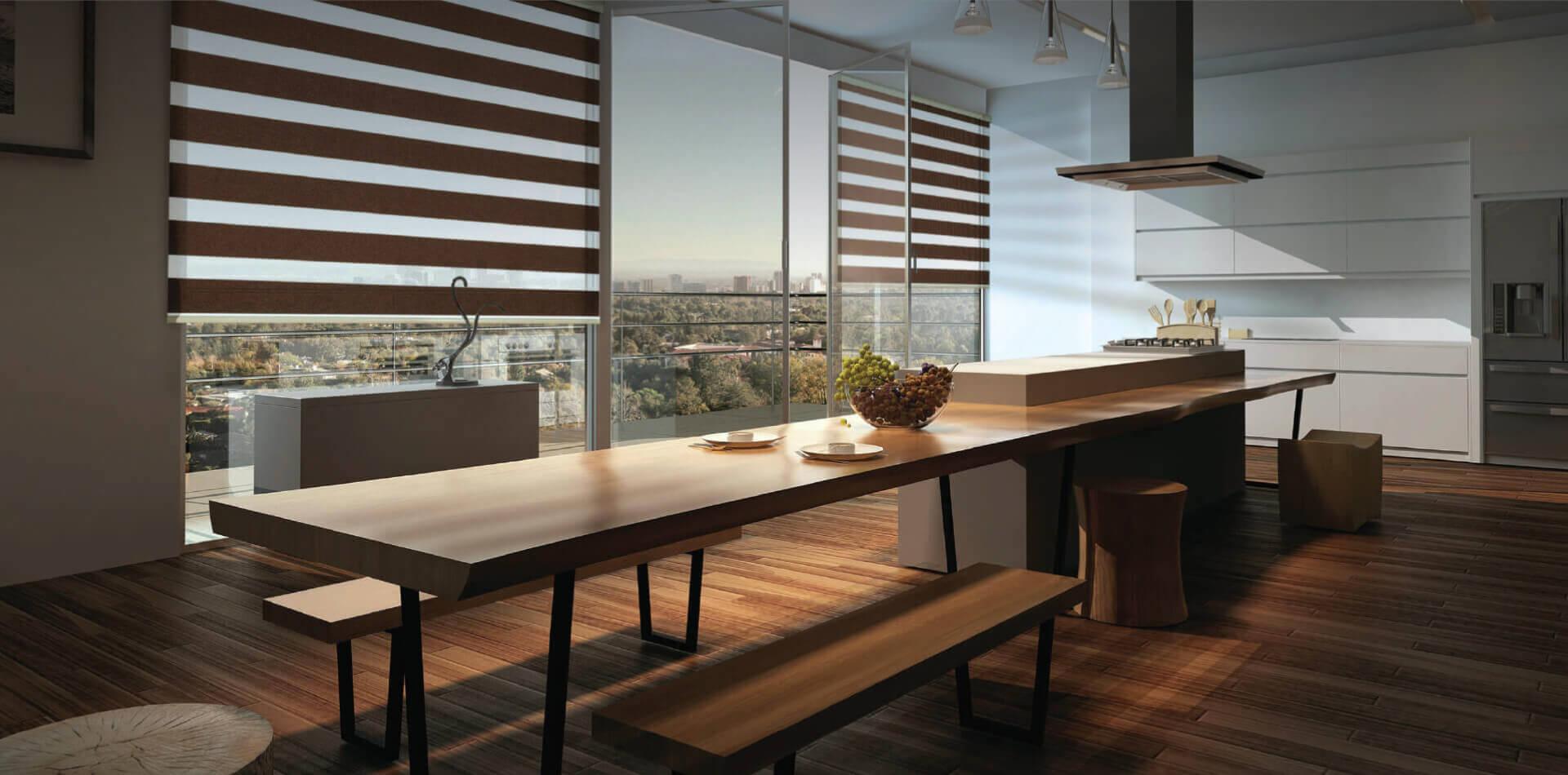 A dining room design