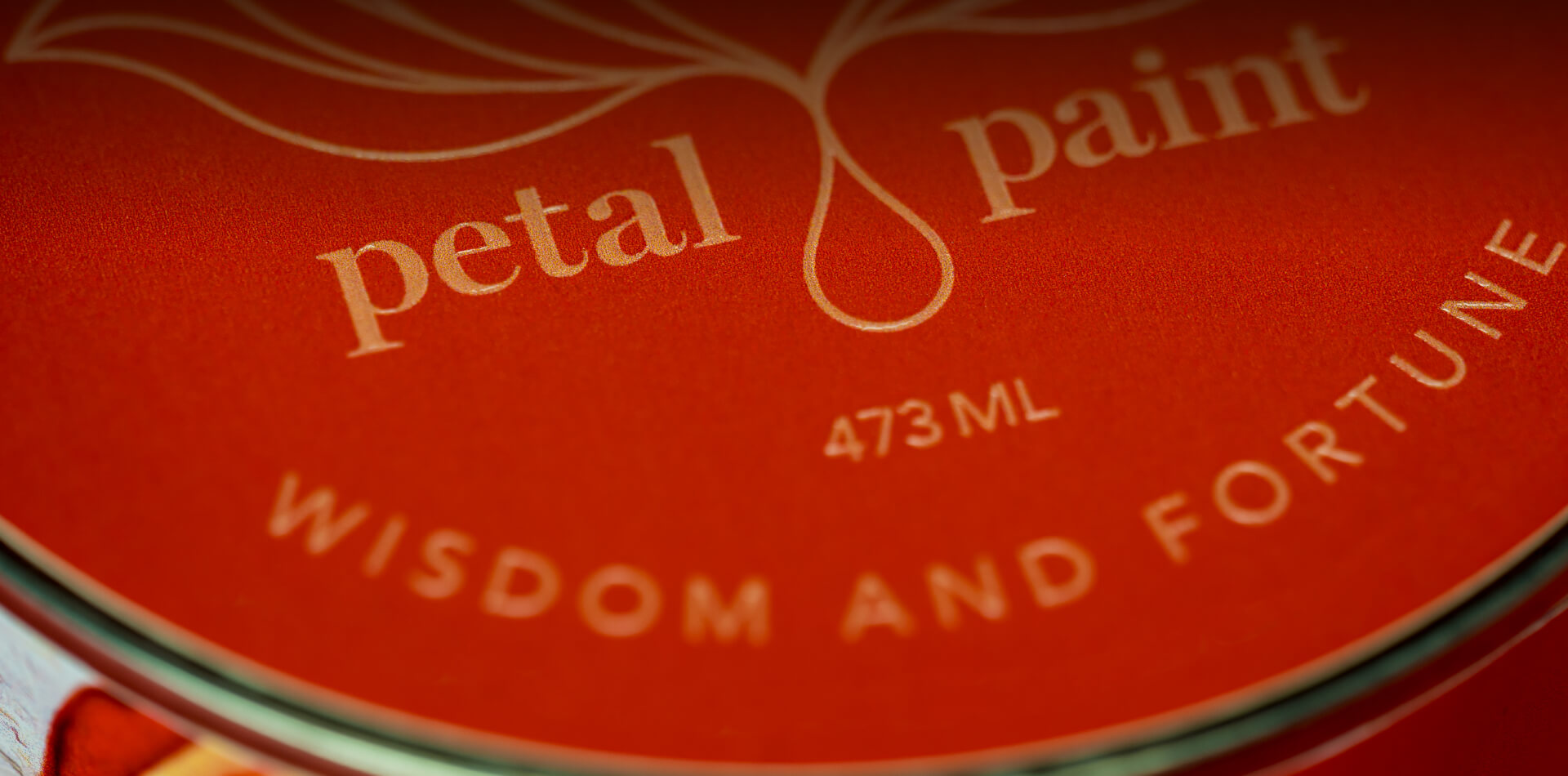 Petal Paint Wisdom and Fortune Label