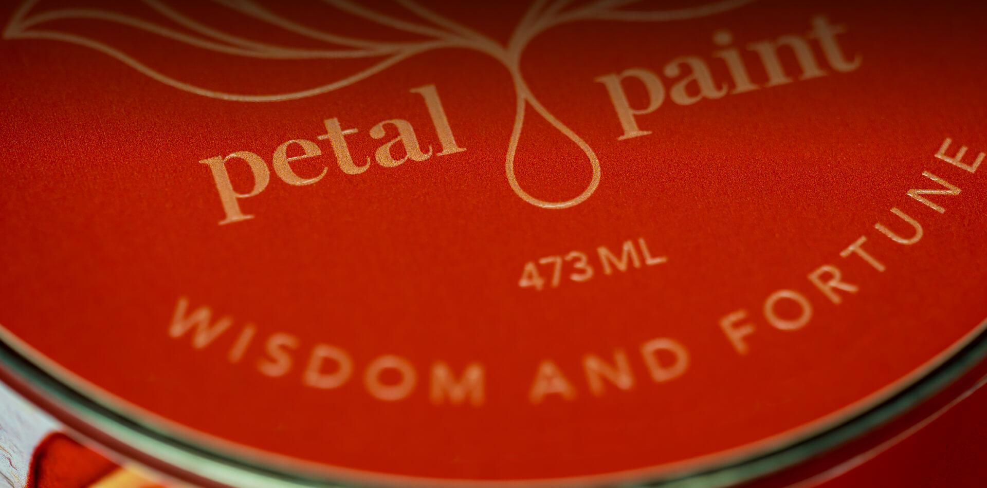 Petal Paint Wisdom and Fortune Label