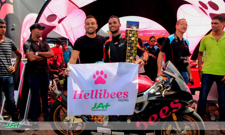 HELLIBEES RACING PROUDLY SPONSORED BY JAT HOLDINGS (PVT.) LTD.