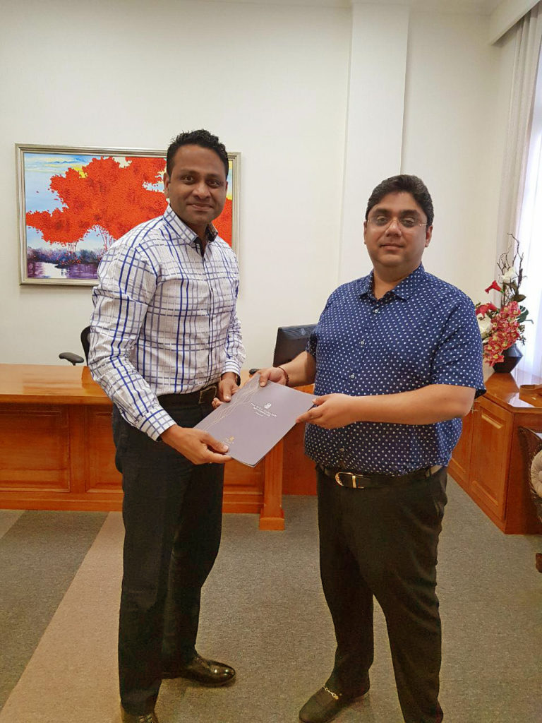 AN EXCHANGE OF THE PARTNERSHIP AGREEMENT BETWEEN THE ONE TRANSWORKS SQUARE (PVT) LTD – DEVELOPERS OF