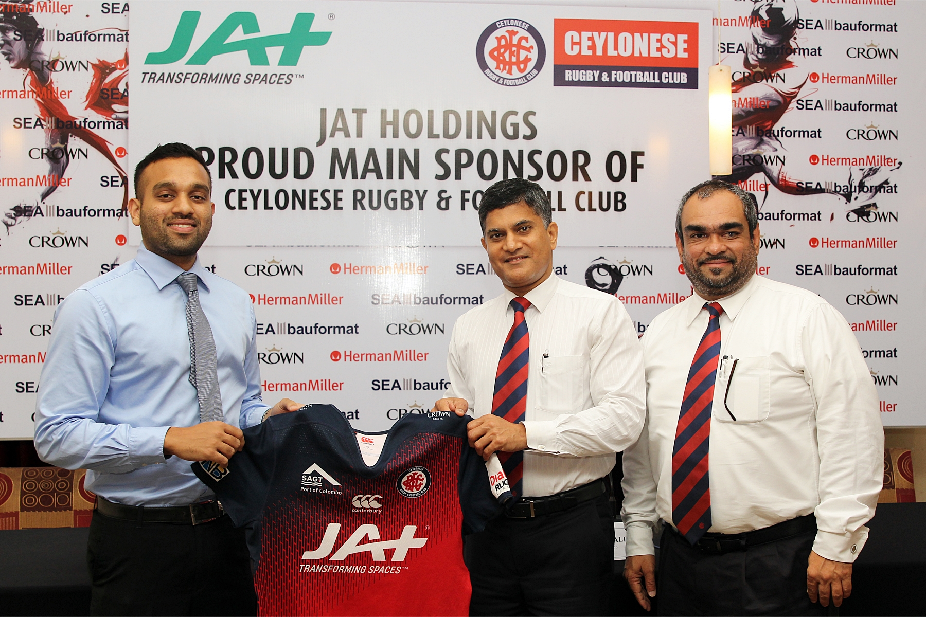 CEYLONESE rugby and football club sponsored by JAT Holdings
