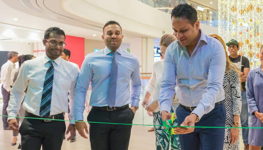 Ceremonial ribbon cutting by Managing Director Aelian Gunawardene