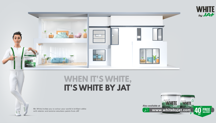 "JAT Holdings launches ""WHITE by JAT"", a superior emulsion paint"