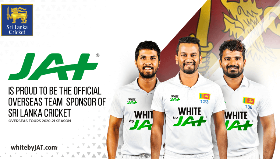 "JAT Holdings conferred the title ""Official Overseas Team Sponsor of Sri Lanka Cricket"" during the 20"