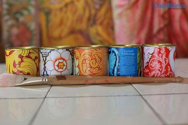 Pental Paints paintbrush and paint types