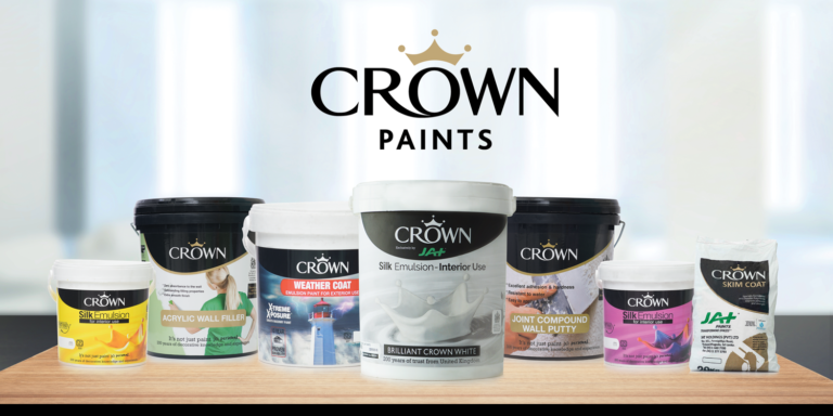 CROWN PAINTS range of paints and colours