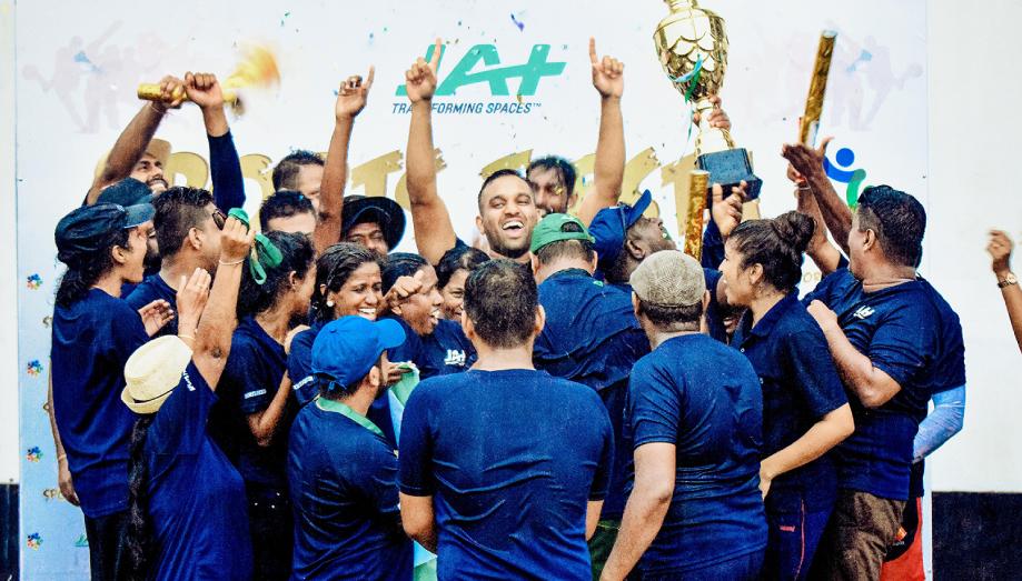 JAT Sports Fiesta victory cup