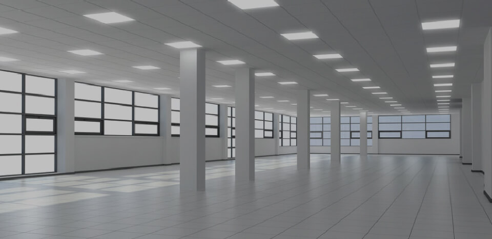 A commercial office space