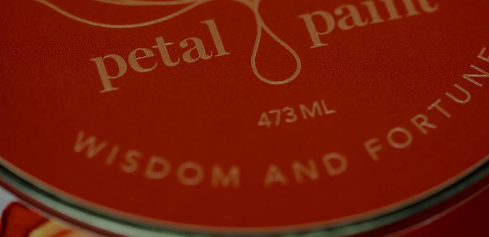Petal Paint packaging