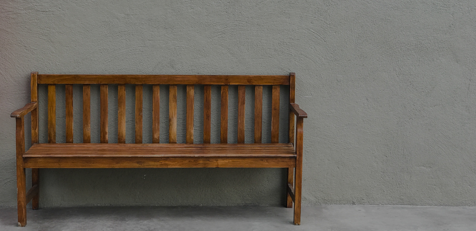 J CHEM solvent based wood coated wooden bench